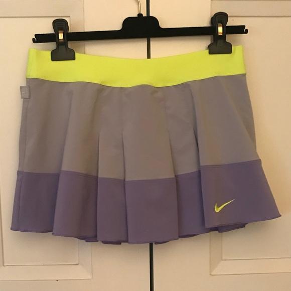 697602fc62 Nike Skirts   Purple Grey Lime Green Pleated Tennis Skirt M   Poshmark